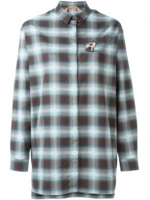 Декорированная  рубашка в клетку Nº21. Цвет: зелёный