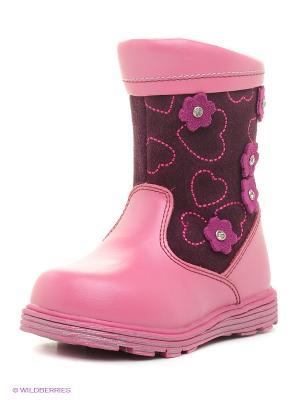 Полусапожки Flamingo. Цвет: розовый, фиолетовый