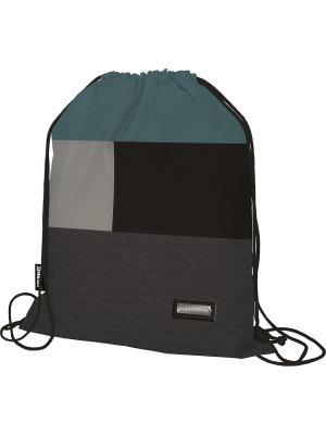 Сумка-рюкзак для обуви. Seventeen. Цвет: голубой, светло-серый, черный, серый