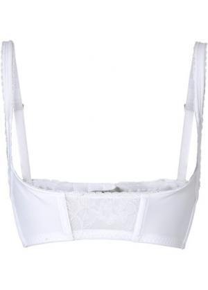 Моделирующий бюстгальтер (чашечки A–D) (белый) bonprix. Цвет: белый