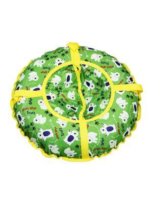 Санки надувные Ватрушка Метиз. Цвет: зеленый, желтый