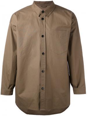 Куртка-рубашка Lerum Stutterheim. Цвет: коричневый