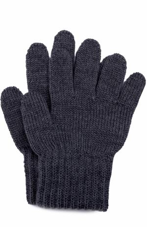 Вязаные перчатки Catya. Цвет: синий