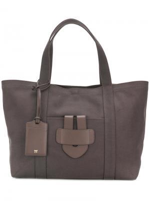 Большая сумка-тоут Simple Tila March. Цвет: коричневый