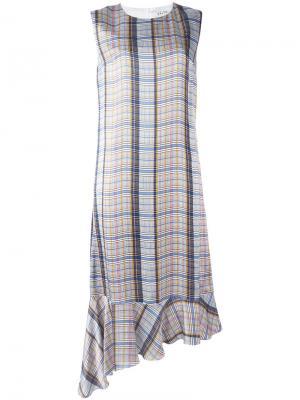 Асимметричное платье с заниженной талией Aalto. Цвет: белый