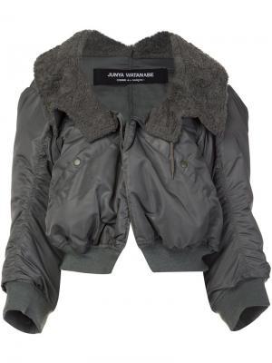Объемная куртка бомбер Junya Watanabe Comme Des Garçons. Цвет: зелёный