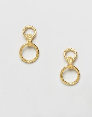 Ottoman Hands Серьги-кольца. Цвет: золотой