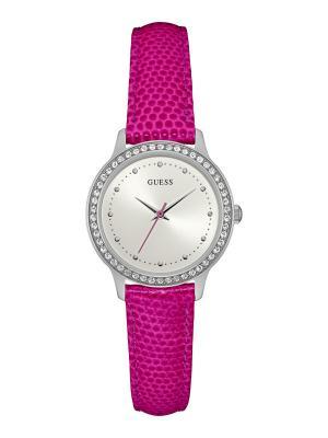 Часы GUESS. Цвет: серебристый,лиловый,розовый