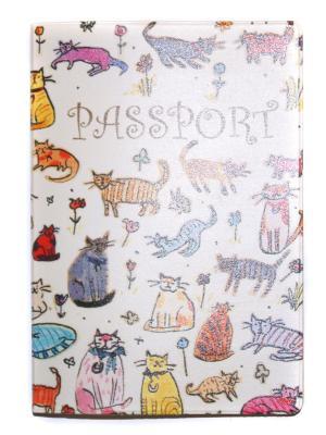 Обложка для паспорта Lola. Цвет: бежевый, желтый, красный