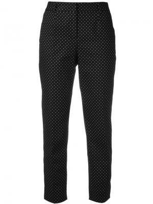 Укороченные брюки в горох Dolce & Gabbana. Цвет: чёрный