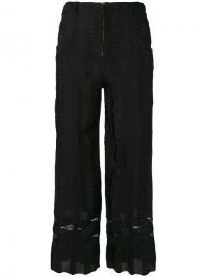 Укороченные брюки Philosophy Di Lorenzo Serafini. Цвет: чёрный