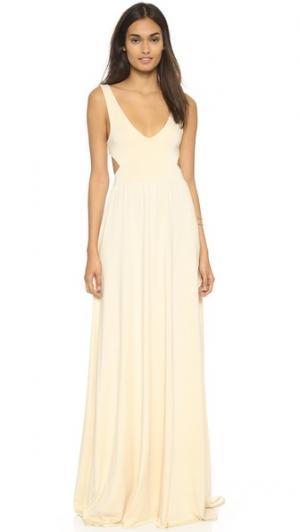 Длинное платье с вырезом Rachel Pally. Цвет: золотой
