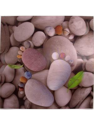 Картина Следы на пляже 3D Русские подарки. Цвет: бледно-розовый