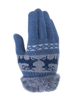Перчатки детские Cascatto. Цвет: голубой