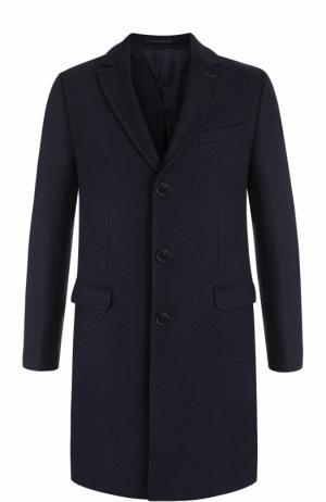 Однобортное пальто с отложным воротником Sand. Цвет: синий