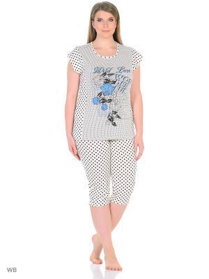 Пижама NAGOTEX. Цвет: белый, синий, черный