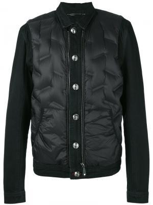 Пуховая куртка-бомбер Philipp Plein. Цвет: чёрный
