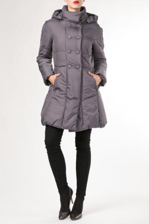 Пальто HDS. Цвет: серый