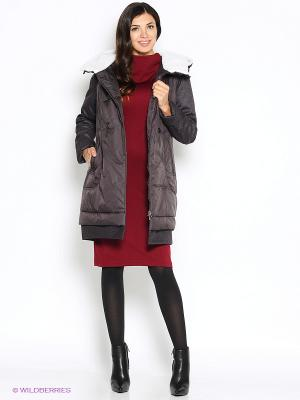 Пальто D`imma. Цвет: темно-фиолетовый