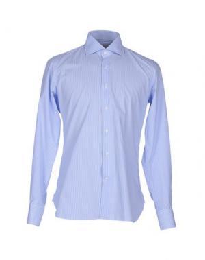 Pубашка ALV ANDARE LONTANO VIAGGIANDO. Цвет: небесно-голубой
