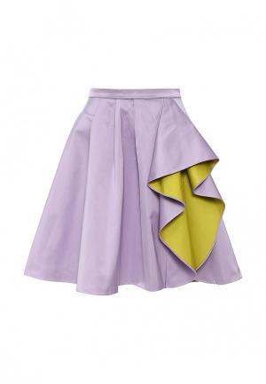 Юбка Boutique Moschino. Цвет: фиолетовый