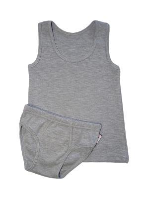 Комплект белья для мальчиков ABAI kids. Цвет: серый меланж