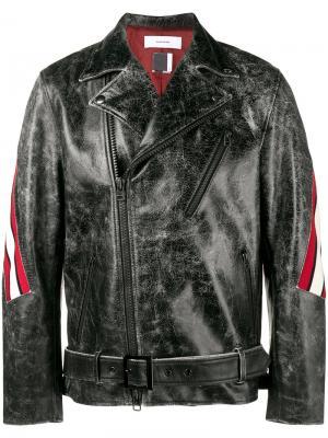 Куртка в полоску Facetasm. Цвет: чёрный