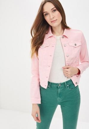 Куртка джинсовая United Colors of Benetton. Цвет: розовый