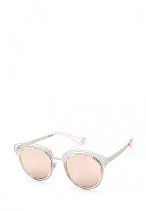 Очки солнцезащитные Taya. Цвет: серебряный