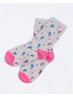 Носки Mark Formelle. Цвет: светло-серый,розовый