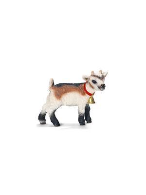 Домашняя коза, детеныш SCHLEICH. Цвет: белый, коричневый