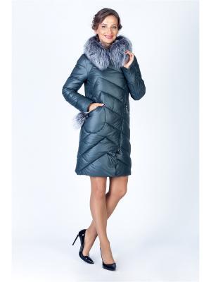 Пальто FREYA. Цвет: зеленый