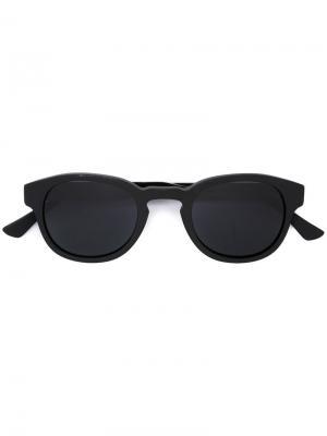 Солнцезащитные очки в круглой оправе с бриллиантами Christian Koban. Цвет: чёрный