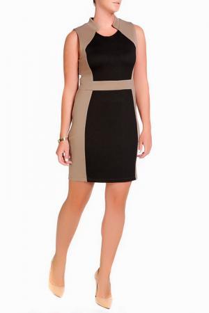 Платье LEIDIRO. Цвет: черный, бежевый