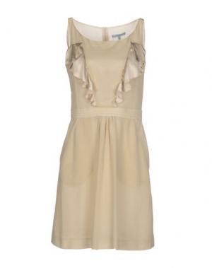 Короткое платье SIVIGLIA. Цвет: песочный