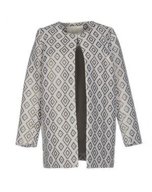 Легкое пальто ELLA LUNA. Цвет: светло-серый