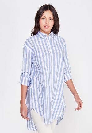 Рубашка Cocos. Цвет: голубой