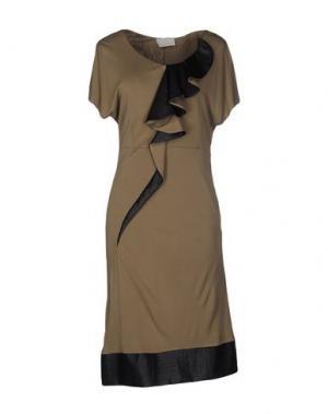 Платье до колена ROBERTA SCARPA. Цвет: хаки