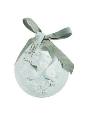 Ароматическая гипсовая подвеска Медальон Голова анелочка, аромат Рисовая пудра Mathilde M. Цвет: белый