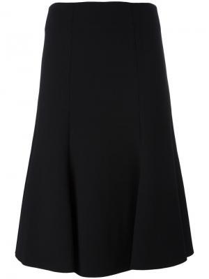 Расклешенная юбка Jonathan Simkhai. Цвет: чёрный