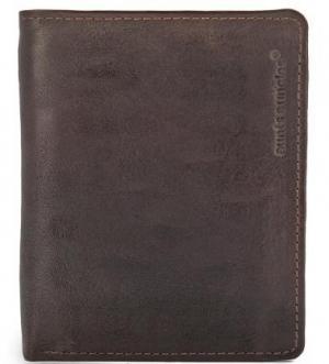 Коричневое кожаное портмоне aunts & uncles. Цвет: коричневый