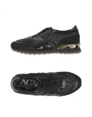 Низкие кеды и кроссовки AGL ATTILIO GIUSTI LEOMBRUNI. Цвет: черный