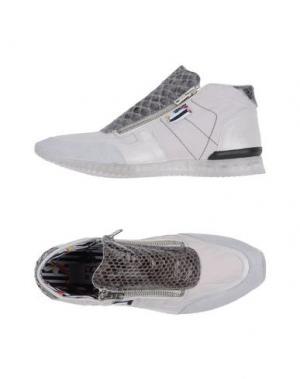 Низкие кеды и кроссовки YAB. Цвет: светло-серый