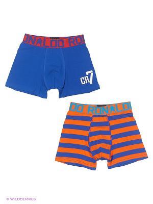 Трусы, 2 шт CR7 Cristiano Ronaldo. Цвет: синий, оранжевый