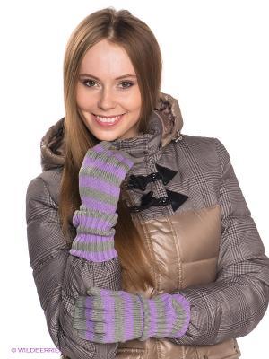 Перчатки Maxval. Цвет: серый, сиреневый