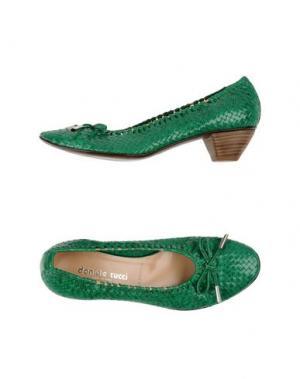 Туфли DANIELE TUCCI. Цвет: зеленый