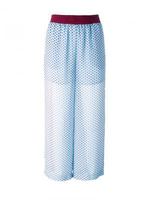 Прозрачные брюки в горох IM Isola Marras I'M. Цвет: синий