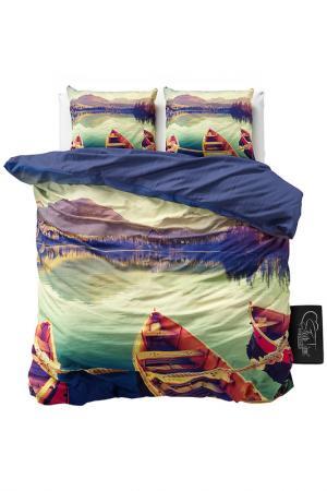 Комплект постельного белья Евро Sleeptime. Цвет: мультицвет