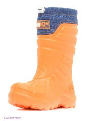 Резиновые сапоги ДюнАстра. Цвет: оранжевый