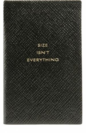 Записная книжка Smythson. Цвет: черный